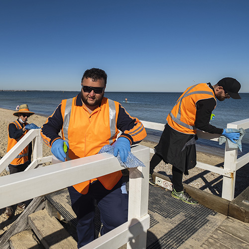 Citywide Working for Victoria PP Kerferd pier grid